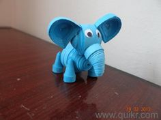 3D-Quilled-blue-elephant