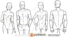 Casual standing pose reference sheet by Kibbitzer on @DeviantArt