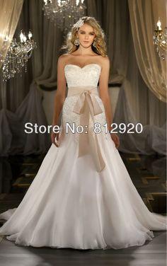 TWD118   2013 new design princess Organza Sweetheart Detachable champagne Sash Trumpet Wedding Dress $179.00
