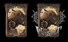 Options of the «Wild boar spirit» design. Inspired by vikings, norse mythology and metal music.