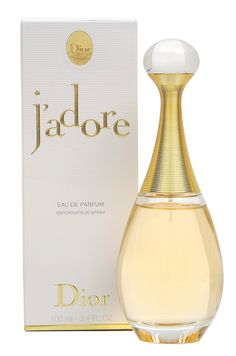 J'Adore by Dior (1999) sweet but balmy, slightly sharp floral with fresh mandarin in the top; jasmine, plum, orchid and rose in the heart; and amaranth, musk and blackberry in the trail.