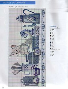 Kitty on Train Cross Stitch Designs, Cross Stitch Patterns, Cross Stitching, Cross Stitch Embroidery, Cross Stitch Geometric, Cross Stitch Numbers, Cross Stitch Kitchen, Cross Stitch Needles, Cross Stitch Animals