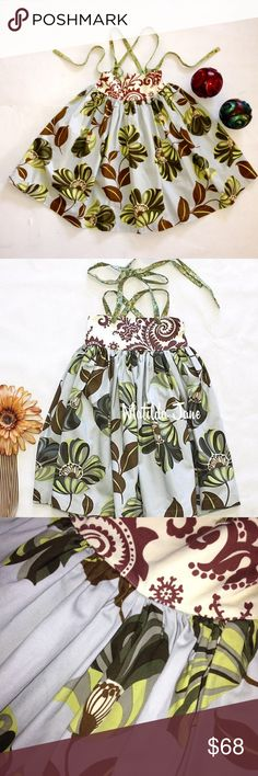 Matilda Jane Platinum Seaflower Ellie Dress Size 6 Price is firm. Bundle and save  Matilda Jane Sunflower Ellie Dress from the Exclusive Platinum Collection. Made in the USA. Excellent condition. Only worn one or two times. Smoke-free as well as pet-free home. Size 6. Matilda Jane  Dresses