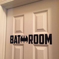 Bat Batman Bat Making H Bathroom Sign Restroom Sign Bathroom Door Sign Restroom Decal Wall Art Superhero Vinyl Sticker Wall Art - Womens Batman - Ideas of Womens Batman -