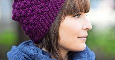 Vettähylkivästä langasta neulottu pipo pitää tukan kuivana sateella. Näyttävä kohoneule on helppo ottaa haltuun. Knitted Hats, Knitting, Fashion, Toco Toucan, Moda, Tricot, Fashion Styles, Knit Caps, Cast On Knitting