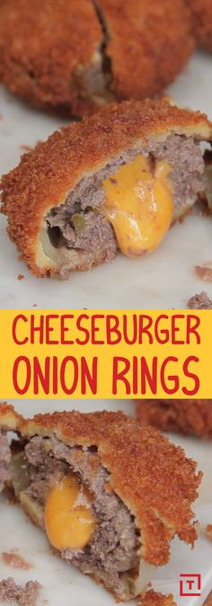 Hot take: No cheeseburger is complete without onions. We'd even prefer to err on the side of extra onions. If that sentiment resonates with you, drop everything and break out the vegetable oil -- this recipe is right up your alley. Yes, we're talking Food Steez's cheeseburger onion rings. They're basically bite-sized cheeseburgers, except instead of a bun they're cradled by an onion ring. Why are you still reading this? Go watch the video to see how to make 'em.