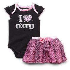 Baby Glam Newborn & Infant Girl's Cap Sleeve Bodysuit & Tutu Skirt - Leopard