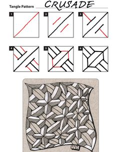 How to draw CRUSADE « TanglePatterns.com - Pinned with Pin Anything from pin4ever.com
