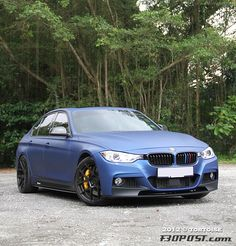 frozen blue f30 BMW