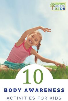 10 body awareness activities for kids, perfect for working on bilateral coordination and crossing midline. via /growhandsonkids/ Physical Activities For Kids, Gross Motor Activities, Movement Activities, Gross Motor Skills, Sensory Activities, Therapy Activities, Therapy Games, Sensory Diet, Therapy Ideas