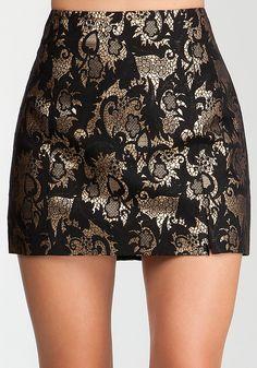 Bebe Jacquard Miniskirt