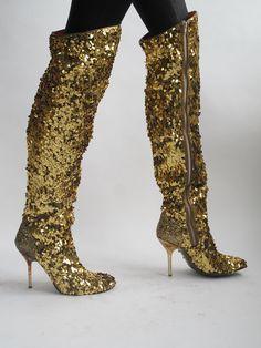 Vivienne Westwood Gold Boots