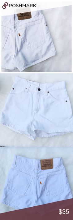•Levi's White Denim High Rise Shorts• White Denim High Rise Shorts. One cannot go wrong with Levi's.   →Color: White Denim →Size: 5 (slim fit) →High Rise  →No trades(comments will politely be ignored). →10% off 2+ items  Levi's Shorts Jean Shorts