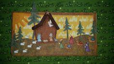 #pesebre #botones #manualidades #telas Felt Christmas, Christmas 2017, Christmas Ornaments, Nativity Crafts, Nativity Sets, Holiday Crafts, Holiday Decor, Quilted Table Runners, Christmas Inspiration