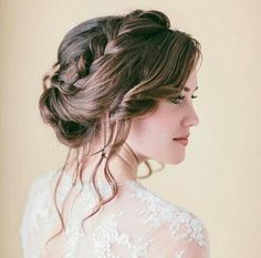 #hairdo #bun #braid #romantic