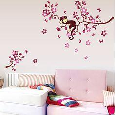 Dieren / Botanisch / Cartoon Wall Stickers Vliegtuig Muurstickers Decoratieve Muurstickers,PVC Materiaal Verwijderbaar Huisdecoratie - EUR € 4.89