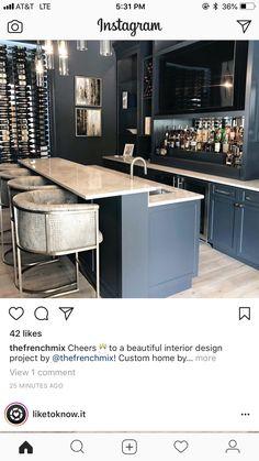 Bar and wine wall ideas for basment – Basement İdeas 2020 Basement Bar Plans, Basement Bar Designs, Home Bar Designs, Basement House, Basement Kitchen, Basement Bedrooms, Basement Remodeling, Basement Ideas, Basement Studio