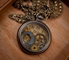 Buy Now Steampunk Jewelry, Pocket Watch, Vintage, Westclock, Gears, Clock, Steampunk Necklace, Pendant, Steampunk Pocket Watch by SheriffofSteampunk 59.68