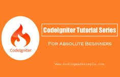Hi, I have been writing codeigniter tutorials series  for quite some time and already discussed about creating login form and contact form...
