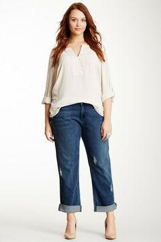 James Jeans Boyfriend Jean - Plus Size