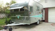 67 roadrunner almost done polishing! 1970 Roadrunner, Remodeled Campers, Road Runner, Glamping, Trailers, Montana, Rv, Restoration, Shed
