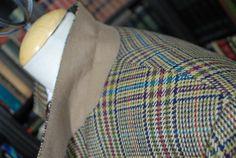 Bold Tweed Windowpane Check Sport Jacket 42 by BWBritishVintage