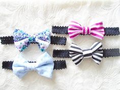 Set of 4 baby headbands Baby shower gift Baby by OneOfferJewelry