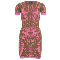 McQ Alexander McQueen Intarsia Knit Dress (1.405 RON) found on Polyvore