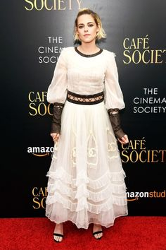 Kristen Stewart wowed in a Chanel creation held together by strings at the Cafe Society premiere! See the pics!