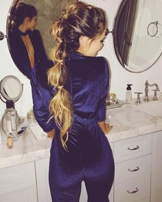 Pony Tail Hair Style ~Thanksgiving hair style ideas http://tomybsalon.com/thanksgiving-hairstyles/