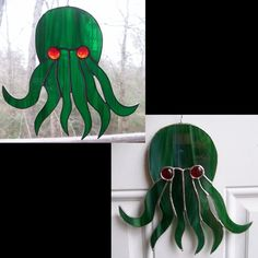devilxkat - Cthulh Fhatagn 1 - cute Cthulhu stained glass head