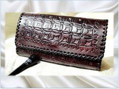Dark Cherry brown leather handbag. Burgundy Indian Leather Clutch Purse. Handmade, hand embossed leather clutch. From Artkrti. by Artikrti on Etsy