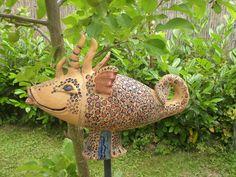Garten-Keramik  Drachenfisch von Petsoh-Atelier auf DaWanda.com