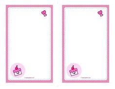 Free Printable:Kawaii Cake Envelope & Note Papers | Free Download Cute Printables Template