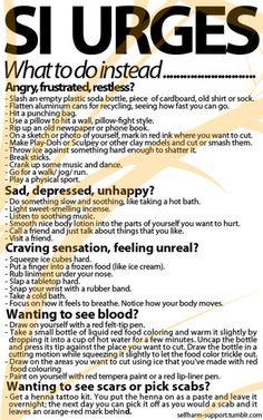 Alternatives to self harm