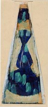 Drawing - pattern of glass vase design, 1958