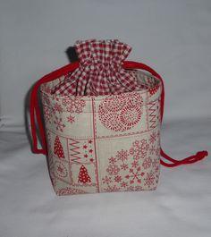 *Noël* Sac, pochon en tissu, décoration et rangement, maintien au chaud : Meubles et rangements par alsace-gourmets