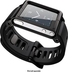 LunaTik - Multitouch Watchband for 6th- and 7th-Generation Apple® iPod® nano - Black