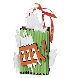 oooOOOOhhh! Ghostly gift bag made with @Cricut ® cartridge -- A Frightful Affair!