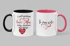 Anniversary Gift For Her, Birthday Mug For Women, Anniversary Gifts For Wife, Anniversary Gift Idea, Romantic Love Gifts Couple