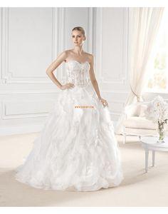 Herz-Ausschnitt Frühling Empire Brautkleider 2015