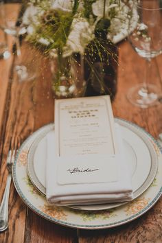 rustic winery place setting // photo by Dove + Sparrow // View more: http://ruffledblog.com/brooklyn-winery-wedding/