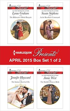 """Read """"Harlequin Presents April 2015 - Box Set 1 of 2 An Anthology"""" by Lynne Graham available from Rakuten Kobo. Harlequin® Presents brings you four new titles for one great price! This Presents box set includes The Billionaire's Bri. Abby Green, Desert King, Lynne Graham, Kate Walker, The Heirs, Bestselling Author, Presents, Box, Billionaire"""