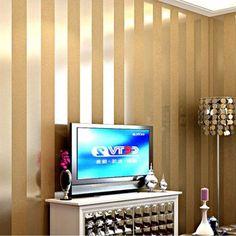 Günstige Heiße verkäufe gold und beige striped natur holz designs tapete luxus wohnzimmer tv hintergrund papel de parede, Kaufe Qualität Tapeten direkt vom China-Lieferanten: heiße verkäufe gold und beige gestreiften Natur holz designs tapete Luxus wohnzimmer tv hintergrund papel de parede&nbsp