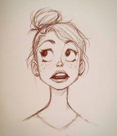 Just doodling. #sketch #doodle #girl #drawing #illustration #art #cameronmarkart