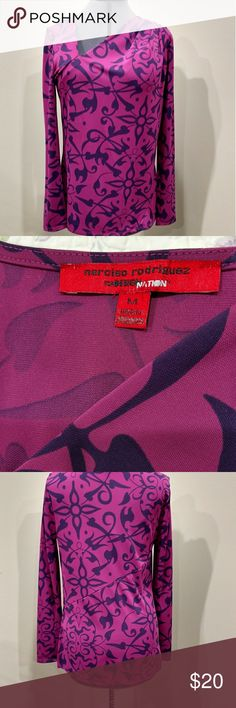 "Design Nation asymmetrical blouse 2 shades of purple, excellent condition, ""may"" have worn once. Narciso Rodriguez Tops Blouses"