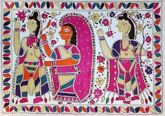 24-Hour Auction: Indian Folk & Tribal Art & Objects - Indrakant Jha, Ram, Sita and Laxman