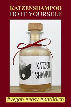#katzenshampoo #katzen #shampoo #handmade #diy #rezept #vegan #natürlich #katzenpflege #tierpflege #hundeshampoo Crazy Cat Lady, Crazy Cats, Cat Food, Perfume Bottles, Handmade, Cat Cat, Babys, Bathroom, Inspiration