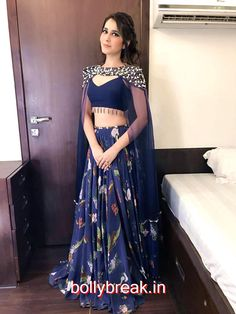 Raashi Khanna Photoshoot Stills In Blue Lehenga