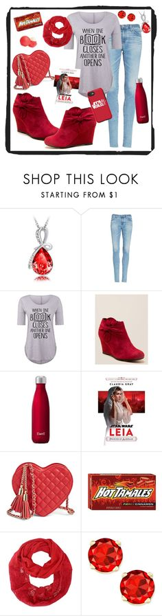 """""""Red Obsessed"""" by pointeshoejedi ❤ liked on Polyvore featuring AG Adriano Goldschmied, CL by Laundry, Eos, OtterBox, contestentry and polyPresents"""